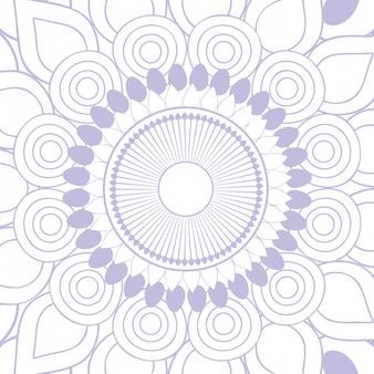Mandala fond violet