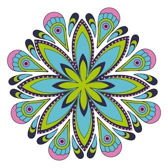 Mandala de forme de fleur colorée