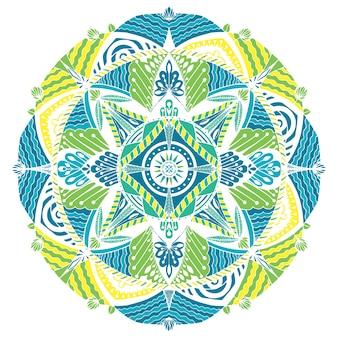 Mandala graphique de vecteur avec des motifs ethniques