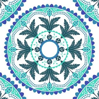 Mandala imprimé sans couture