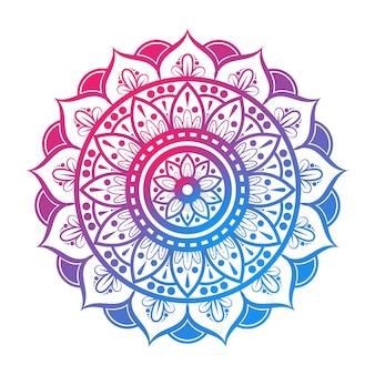 Mandala indien coloré