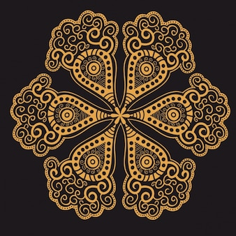 Mandala jaune