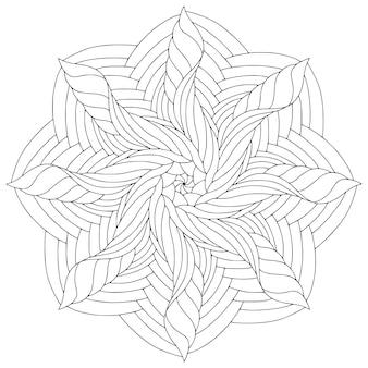 Mandala linéaire ornemental