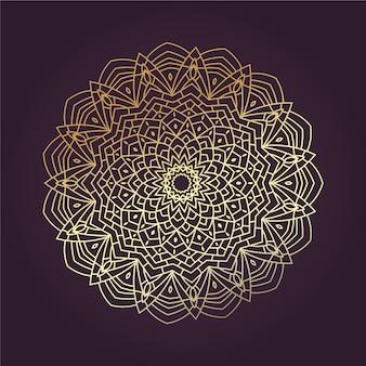 Mandala lineart doré