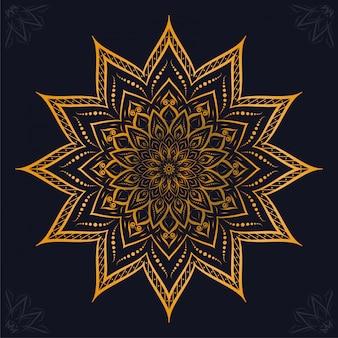 Mandala de luxe arabesque fond ornemental