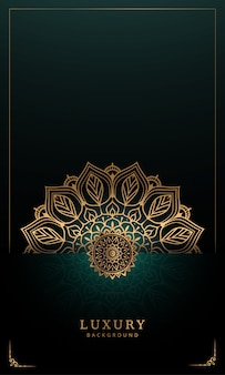 Mandala de luxe avec décoration arabesque dorée