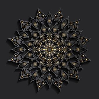 Mandala de luxe effet 3d