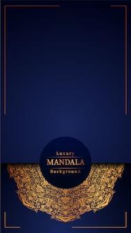Mandala de luxe fond bleu