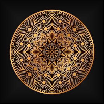 Mandala de luxe fond islamique