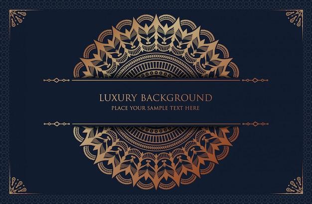 Mandala de luxe avec motif arabesque doré style oriental islamique arabe