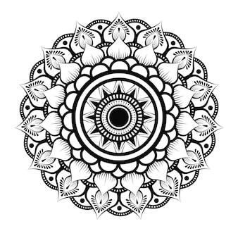 Mandala de luxe en noir et blanc