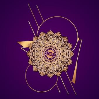 Mandala de luxe avec style islamique arabe doré style ramadan mandala décoratif mandala pour impression