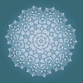 Mandala de méditation fractale ethnique