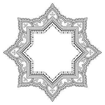 Mandala, mehndi. ornement décoratif dans un style oriental ethnique.