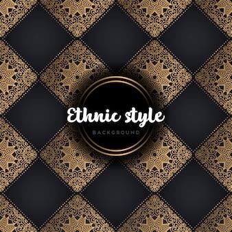 Mandala de modèle sans couture de luxe