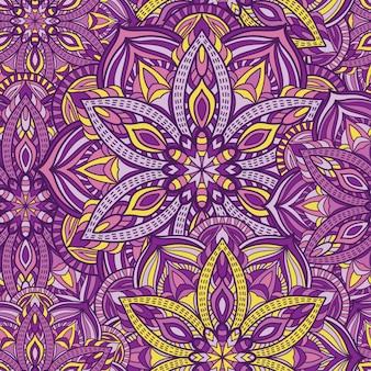 Mandala modèle sans couture de vecteur pour le papier peint. ornement tribal.