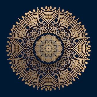 Mandala motif islamique doré