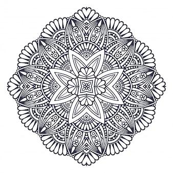 Mandala. motif d'ornement rond. éléments décoratifs vintage