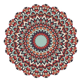 Mandala avec des motifs de pouf