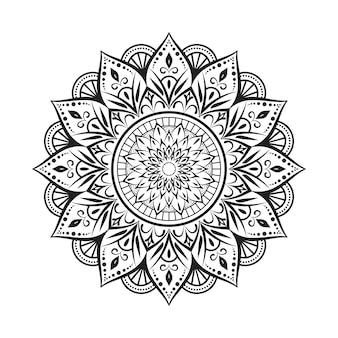 Mandala sur noir et blanc