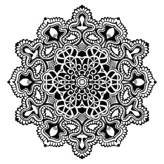 Mandala noir et blanc