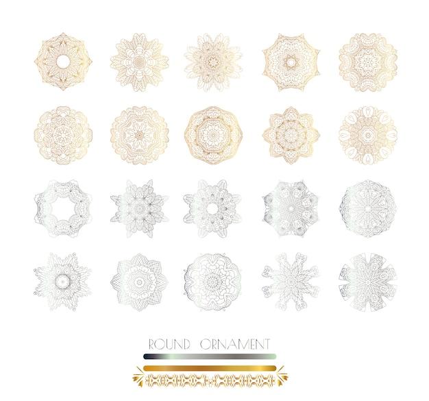 Mandala d'or et d'argent