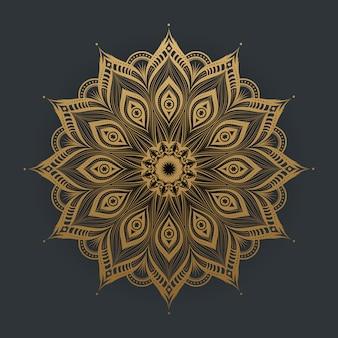Mandala d'or de luxe en dentelle