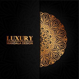 Mandala d'or de luxe