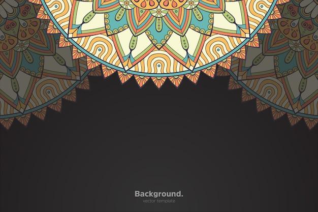 Mandala oriental abstrait