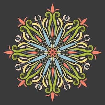 Mandala oriental dans le style boho