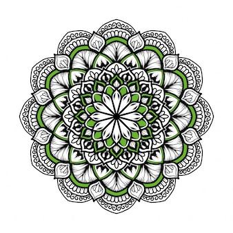 Mandala oriental dessiné à la main