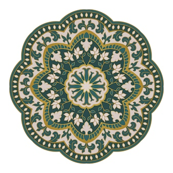 Mandala oriental de vecteur.
