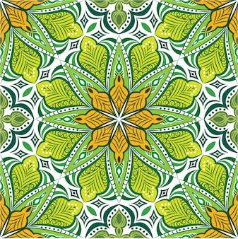 Mandala ornemental abstrait, modèle sans couture
