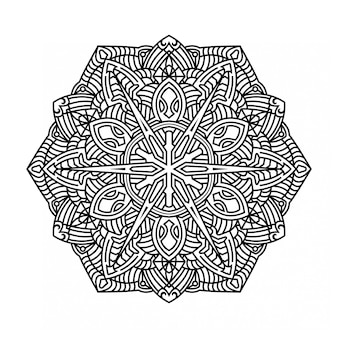Mandala ornemental sur fond blanc
