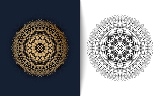 Mandala ornemental de luxe, illustration vectorielle motif oriental