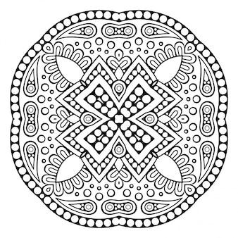 Mandala ornemental de vecteur inspiré de l'art ethnique