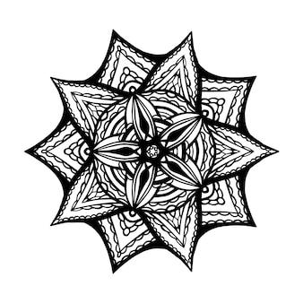 Mandala pour cahier de coloriage. ornements ronds décoratifs. forme de fleur inhabituelle. vecteur oriental, modèles de thérapie anti-stress. tisser des éléments de conception. logos de yoga illustration vectorielle