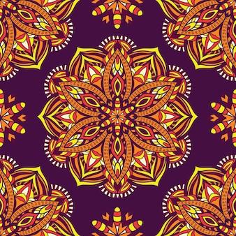 Mandala pour l'impression. ornement tribal.