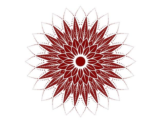 Mandala en rouge