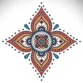 Mandala round ornament pattern éléments décoratifs vintage fond dessiné à la main