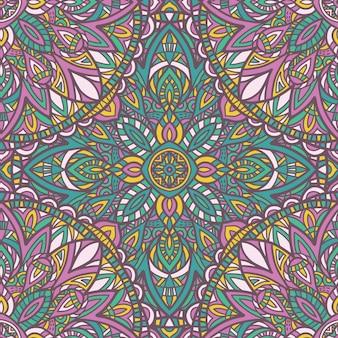 Mandala sans soudure de fond. ornement tribal.