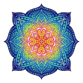Mandala de style oriental. mandala de style oriental. couleurs froides.