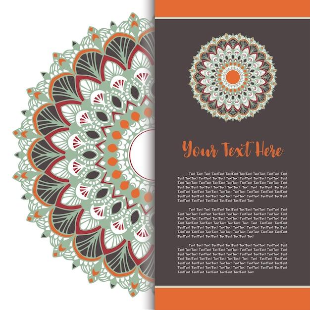 Mandala template card set vector.
