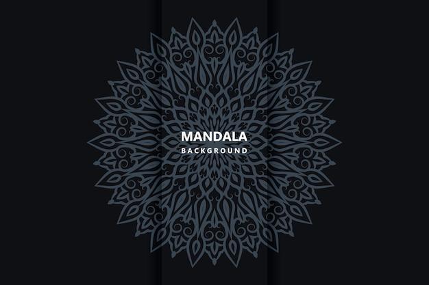 Mandala en tissu arabesque floral