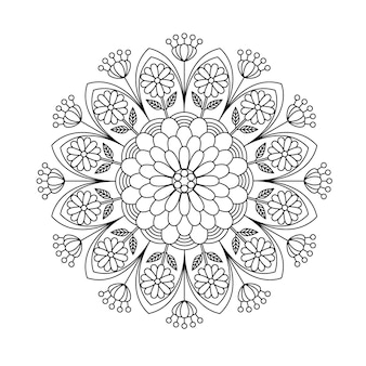 Mandala les tourbillons pages à colorier imprimables.