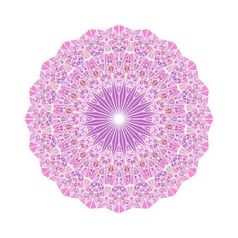Mandala de triangle abstrait mosaïque géométrique ronde