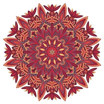 Mandala tribal pour l'impression sur tissu ou papier.
