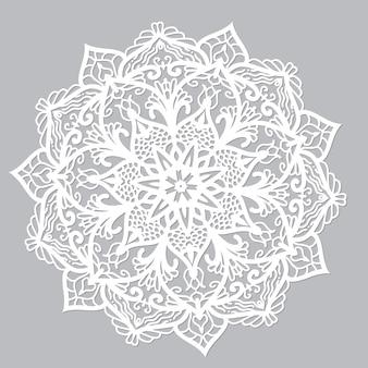 Mandala de vecteur blanc