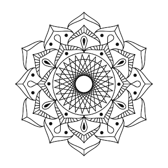 Mandala de vecteur de contour créatif