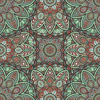 Mandala vecteur de fond sans couture